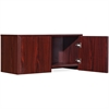 "Lorell Essential Series Mahogany Wall Mount Hutch - 35.4"" x 14.8"" x 16.8"" Hutch, Side Panel, Back Panel, Panel, Bottom Panel - Material: Polyvinyl Chloride (PVC) Edge - Finish: Mahogany"