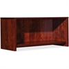 "Lorell Essentials Hutch - 35.4"" x 14.8"" x 16.8"" Hutch, Side Panel, Back Panel, Panel, Bottom Shelf - Material: Polyvinyl Chloride (PVC) Edge - Finish: Cherry"