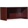"Lorell Essential Series Mahogany Wall Mount Hutch - 29.5"" x 14.8"" x 16.8"" Hutch, Side Panel, Back Panel, Panel, Bottom Panel - Material: Polyvinyl Chloride (PVC) Edge - Finish: Mahogany"