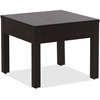 "Lorell Occasional Corner Tables - Square Top - Square Leg Base - 24"" Table Top Width x 24"" Table Top Depth x 1"" Table Top Thickness - 20"" Height x 23.88"" Width x 23.88"" Depth - Assembly Required - Esp"