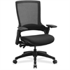 "Lorell Serenity Series Executive Multifunction High-back Chair - Fabric Seat - Black - 25.3"" Width x 23.5"" Depth x 40.5"" Height"