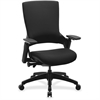 "Lorell Serenity Series Executive Multifunction High-back Chair - Fabric Seat - Fabric Back - Black - 25.3"" Width x 23.5"" Depth x 40.5"" Height"