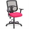 "Lorell Managerial Mid-back Chair - Fabric Seat - Black Back - 5-star Base - Red - 25.3"" Width x 23.5"" Depth x 40.5"" Height"