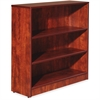 "Lorell Essentials Series Cherry Laminate Bookcase - 36"" x 12"" x 36"" Bookshelf, Shelf - 3 Shelve(s) - Square Edge - Material: Medium Density Fiberboard (MDF) - Finish: Thermofused Laminate (TFL), Cherr"