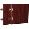 "Lorell Essentials Mahogany Wall Hutch Door Kit - 13.6"" x 16"" x 0.8"" - Material: Polyvinyl Chloride (PVC), Wood - Finish: Mahogany"