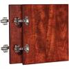 "Lorell Essentials Cherry Wall Hutch Door Kit - 13.6"" x 16"" x 0.8"" - Material: Wood, Polyvinyl Chloride (PVC) Edge - Finish: Cherry"