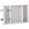"Lorell Wall-Mount Hutch Frosted Glass Door - 36"" Door, 16.6"" x 16"" x 0.9"" - Material: Frosted Glass Door - Finish: Frost"