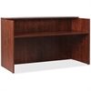"Lorell Essentials Series Cherry Reception Desk - Top, 35.4"" x 70.9"" x 42.5"" Desk - Material: Wood - Finish: Cherry Laminate"