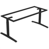 "Lorell Rectangular Conference T-leg Table Base - T-shaped Base - 2 Legs - 28.50"" Height x 66.50"" Width x 34.63"" Depth - Assembly Required - Black, Powder Coated - Steel"