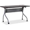 "Lorell Espresso/Silver Training Table - Rectangle Top - Four Leg Base - 4 Legs - 48"" Table Top Width x 23.50"" Table Top Depth - 29.50"" Height x 47.25"" Width x 23.63"" Depth - Assembly Required - Espres"
