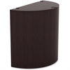 "Lorell Prominence Espresso Laminate Curved Table Base - Curved Base - 27.50"" Height x 15.75"" Width x 29.50"" Depth - Assembly Required - Espresso, High Pressure Laminate (HPL), Melamine"