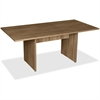 "Lorell 2-Panel Base Rectangular Walnut Conference Table - Table Top, Edge, 70.9"" x 35.4"" x 29"" - Material: MFC, Polyvinyl Chloride (PVC) - Finish: Walnut Laminate"