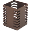 "Lorell Stamped Metal Square Pencil Cup - 3.2"" x 3.2"" - Steel - 1 Each - Bronze"