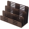 Lorell Stamped Metal 3-Tier File Sorter - 3 Tier(s) - Desktop - Bronze - Steel - 1Each