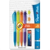Quick Flip Mechanical Pencils - #2 Lead Degree (Hardness) - 0.5 mm Lead Diameter - Refillable - Assorted Barrel - 4 / Pack