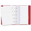 Rediform Filofax Notebook - 112 Pages - Printed - Twin Wirebound - Ruled - 100 g/m² Grammage - Off White/Ivory Paper - Red Cover - Leatherette Cover - Recycled - 1Each