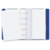 Rediform Filofax Notebook - 112 Pages - Printed - Twin Wirebound - Ruled - 100 g/m² Grammage - Off White Paper - Blue Cover - Leatherette Cover - Recycled - 1Each