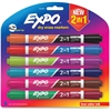 Expo Dual 2-in-1 Dry Erase Markers - Chisel Point Style - Assorted - 6 / Pack