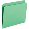 "Smead Top Tab Colored Folders - Letter - 8 1/2"" x 11"" Sheet Size - 3/4"" Expansion - 11 pt. Folder Thickness - Green - Recycled - 100 / Box"