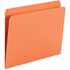 "Smead Top Tab Colored Folders - Letter - 8 1/2"" x 11"" Sheet Size - 3/4"" Expansion - 11 pt. Folder Thickness - Orange - Recycled - 100 / Box"
