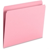 "Smead Top Tab Colored Folders - Letter - 8 1/2"" x 11"" Sheet Size - 3/4"" Expansion - 11 pt. Folder Thickness - Pink - Recycled - 100 / Box"