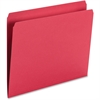 "Smead Top Tab Colored Folders - Letter - 8 1/2"" x 11"" Sheet Size - 3/4"" Expansion - 11 pt. Folder Thickness - Red - Recycled - 100 / Box"