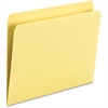 "Smead Top Tab Colored Folders - Letter - 8 1/2"" x 11"" Sheet Size - 3/4"" Expansion - 11 pt. Folder Thickness - Yellow - Recycled - 100 / Box"