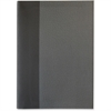 "Sparco Flexiback Notebook - Plain - A5 8.27"" x 5.85"" - Cream Paper - Black, Gray Cover - 1Each"