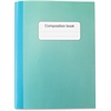 Sparco College-ruled Composition Book - 80 Sheets - Stitched - College Ruled - 15 lb Basis Weight - Blue, Green Cover - Recycled - 1Each