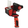 "Sparco 3"" Packaging Tape Dispenser - 3"" Core - Ergonomic Design, Adjustable Tension Mechanism, Durable - Red, Black"