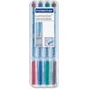 Lumocolor Correctable Marker Pens - Fine Point Type - 0.6 mm Point Size - Refillable - Assorted - Polypropylene Barrel - 4 / Set