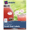 "Avery ID Label - Permanent Adhesive - 45 Label(s)"" - 2.50"" Width x 1.50"" Length - 15 / Sheet - Oval - Inkjet, Laser - White - 45 / Pack"
