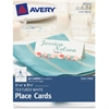 "Avery Tent Card - 3.75"" x 1.44"" - Textured - 60 / Pack - White"