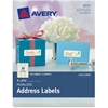 "Avery Pearlized Address Labels 08215, 1"" x 2-5/8"", Pack of 240 Labels - Permanent Adhesive - 240 Label(s)"" - 2.63"" Width x 1"" Length - 30 / Sheet - Rectangle - Inkjet, Laser - Ivory - 240 / Pack"