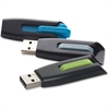Verbatim 16GB Store 'n' Go V3 USB 3.0 Flash Drive - 3pk - Blue, Green, Gray - 16 GBUSB 3.0 - Blue, Green, Gray - 3 Pack""""
