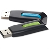 Verbatim 32GB Store 'n' Go V3 USB 3.0 Flash Drive - 2pk - Blue, Green - TAA Compliant - 32 GBUSB 3.0 - Blue, Green - 2 Pack""