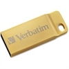 Verbatim 32GB Metal Executive USB 3.0 Flash Drive - Gold - TAA Compliant - 32 GBUSB 3.0 - Gold