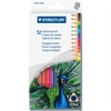 Staedtler 1270 Triangular Colored Pencil - 2.9 mm Lead Diameter - Assorted Lead - Wood Barrel - 12 / Set