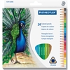 Staedtler Tradition Colour Pencil Set - 2.9 mm Lead Diameter - Assorted Lead - Wood Barrel - 24 / Set