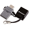 Verbatim 64GB Store 'n' Go Dual USB Flash Drive for OTG Devices - TAA Compliant - 64 GBMicro USB, USB 2.0 - 1 Pack""