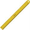 "Westcott 12"" Magnetic Ruler - 12"" Length - Imperial, Metric Measuring System - 1 Each - Yellow"