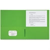 "Sparco 2-Pocket Leatherette Portfolio - Letter - 8 1/2"" x 11"" Sheet Size - 2 Internal Pocket(s) - Leatherette Paper - Apple Green - 25 / Box"