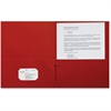 "Sparco 2-Pocket Leatherette Portfolio - Letter - 8 1/2"" x 11"" Sheet Size - 2 Internal Pocket(s) - Leatherette Paper - Red - 25 / Box"