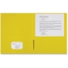 "Sparco 2-Pocket Leatherette Portfolio - Letter - 8 1/2"" x 11"" Sheet Size - 2 Internal Pocket(s) - Leatherette Paper - Yellow - 25 / Box"