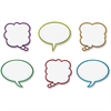 "Trend Speech Balloons Classic Accents Set - 36 Balloon - Precut, Durable, Reusable - 6"" Height - Multicolor - 36 / Pack"