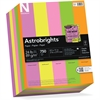 "Astrobrights Colored Paper - Letter - 8.50"" x 11"" - 24 lb Basis Weight - 0% Recycled Content - Smooth - 750 / Pack - Cosmic Orange, Martian Green, Lift-off Lemon, Pulsar Pink, Outrageous Orchid"