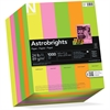 "Astrobrights Colored Paper - Letter - 8.50"" x 11"" - 24 lb Basis Weight - 0% Recycled Content - Smooth - 1000 / Pack - Vulcan Green, Cosmic Orange, Martian Green, Pulsar Pink, Lift-off Lemon"