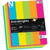 "Astrobrights Colored Paper - Letter - 8.50"" x 11"" - 24 lb Basis Weight - 0% Recycled Content - Smooth - 500 / Pack - Lunar Blue, Terra Green, Cosmic Orange, Solar Yellow, Fireball Fuschia"