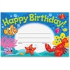 "Trend Happy Birthday Sea Buddies Awards - 8.50"" x 5.50"" - Multicolor"