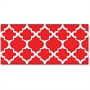 "Trend Moroccan Bolder Borders - Precut, Durable, Reusable - 2.75"" Height x 429"" Width - Red, White - 1 Pack"